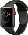 Apple - Geek Squad Certified Refurbished Apple Watch Edition (GPS + Cellular), 42mm with Gray/Black Sport Band - Gray Ceramic