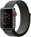 Apple - Geek Squad Certified Refurbished Apple Watch Series 3 (GPS + Cellular), 38mm with Dark Olive Sport Loop - Space Gray Aluminum-6151318