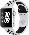 Apple - Refurbished Apple Watch Nike+ Series 3 (GPS), 38mm Silver Aluminum Case with Pure Platinum/Black Nike Sport Band - Silver Aluminum