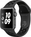 Apple - Apple Watch Nike+ Series 3 (GPS), 38mm Space Gray Aluminum Case with Anthracite/Black Nike Sport Band - Space Gray Aluminum