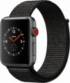 Apple - Apple Watch Series 3 (GPS + Cellular), 42mm Space Gray Aluminum Case with Black Sport Loop - Space Gray Aluminum