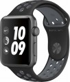 Apple - Apple Watch Nike+ 42mm Space Gray Aluminum Case Black/Cool Gray Nike Sport Band - Space Gray Aluminum