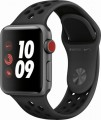 Apple - Apple Watch Nike+ Series 3 (GPS + Cellular), 38mm Space Gray Aluminum Case with Anthracite/Black Nike Sport Band - Space Gray Aluminum- 6090609