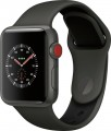 Apple - Apple Watch Edition (GPS + Cellular), 38mm Gray Ceramic Case with Gray/Black Sport Band - Gray Ceramic-6090619