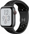 Apple - Apple Watch Nike+ Series 4 (GPS + Cellular), 44mm Space Gray Aluminum Case with Anthracite/Black Nike Sport Band - Space Gray Aluminum