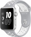 Apple - Apple Watch Nike+ 42mm Silver Aluminum Case Silver/White Nike Sport Band - Silver Aluminum