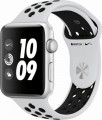 Apple - Refurbished Apple Watch Nike+ Series 3 (GPS), 42mm Silver Aluminum Case with Pure Platinum/Black Nike Sport Band - Silver Aluminum