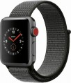 Apple - Geek Squad Certified Refurbished Apple Watch Series 3 (GPS + Cellular), 38mm with Dark Olive Sport Loop - Space Gray Aluminum