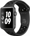 Apple - Apple Watch Nike+ Series 3 (GPS), 42mm Space Gray Aluminum Case with Anthracite/Black Nike Sport Band - Space Gray Aluminum