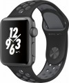Apple - Apple Watch Nike+ 38mm Space Gray Aluminum Case Black/Cool Gray Nike Sport Band - Space Gray Aluminum