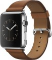 Apple - Apple - Apple Watch (first-generation) 42mm Stainless Steel Case - Saddle Brown Classic Buckle Band - Saddle Brown Classic Buckle Band