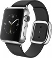 Apple - Apple Watch (first-generation) 38mm Stainless Steel Case - Black Modern Buckle – Large